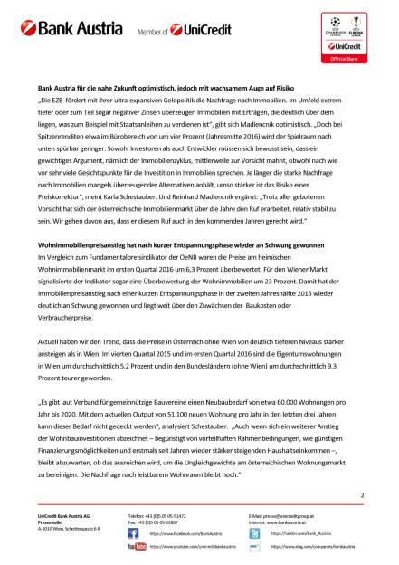 Bank Austria: Erneutes Rekordjahr für Österreichs Immobilienmarkt, Seite 2/4, komplettes Dokument unter http://boerse-social.com/static/uploads/file_1851_bank_austria_erneutes_rekordjahr_fur_osterreichs_immobilienmarkt.pdf