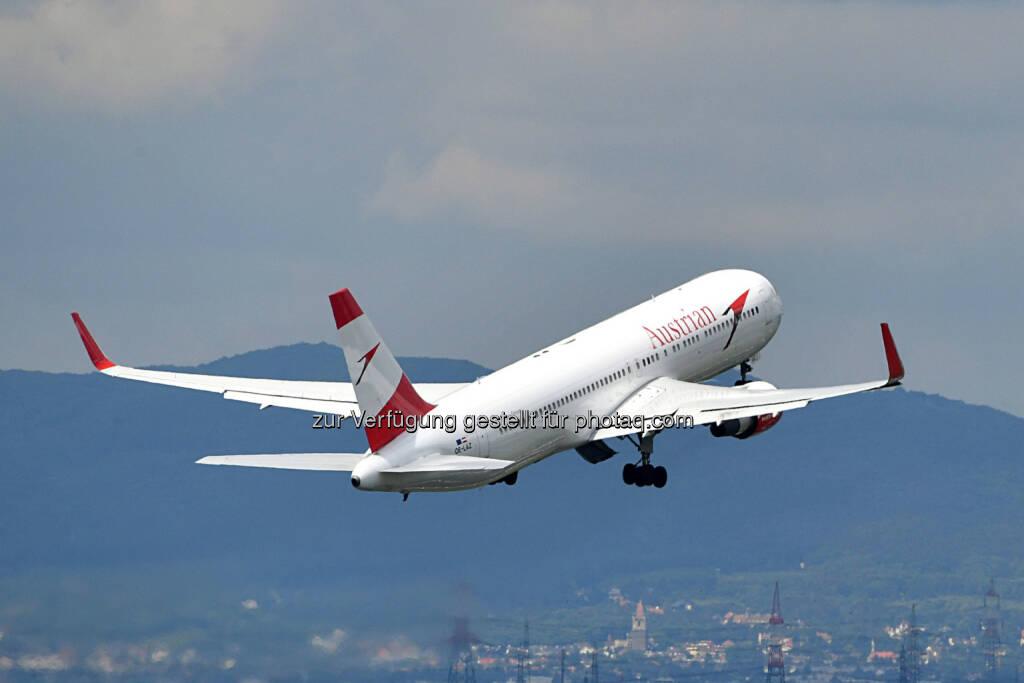 Austria Airlines Boeing 767 : Austrian Airlines investiert in zusätzliche Flugzeuge am Drehkreuz Wien  : Fotocredit © Austrian Airlines/Huber, © Aussendung (29.09.2016)