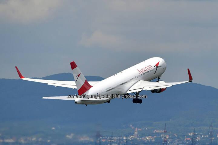 Austria Airlines Boeing 767 : Austrian Airlines investiert in zusätzliche Flugzeuge am Drehkreuz Wien  : Fotocredit © Austrian Airlines/Huber
