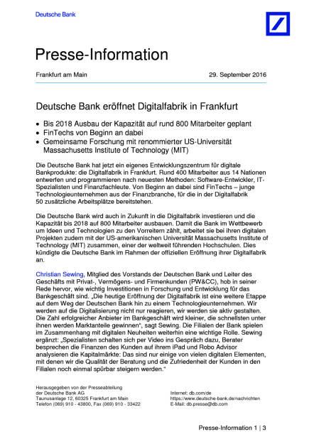 Deutsche Bank eröffnet Digitalfabrik in Frankfurt, Seite 1/3, komplettes Dokument unter http://boerse-social.com/static/uploads/file_1854_deutsche_bank_eroffnet_digitalfabrik_in_frankfurt.pdf