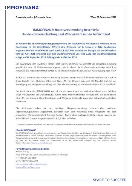 Immofinanz Hauptversammlung: Dividendenausschüttung, Aufsichtsrat, Seite 1/1, komplettes Dokument unter http://boerse-social.com/static/uploads/file_1855_immofinanz_hauptversammlung_dividendenausschuttung_aufsichtsrat.pdf