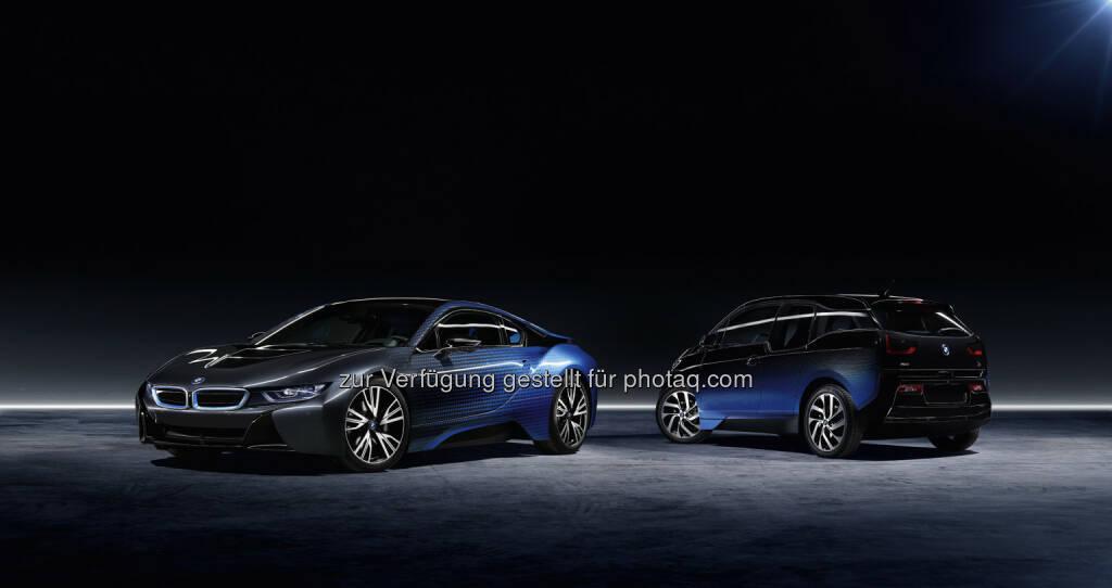 BMW i3 und BMW i8 Garage Italia CrossFade : BMW i und Garage Italia Customs präsentieren den BMW i3 und den BMW i8 Garage Italia CrossFade bei der Mondial de l'Automobile 2016 in Paris : Fotocredit ©BMW Group, © Aussendung (29.09.2016)
