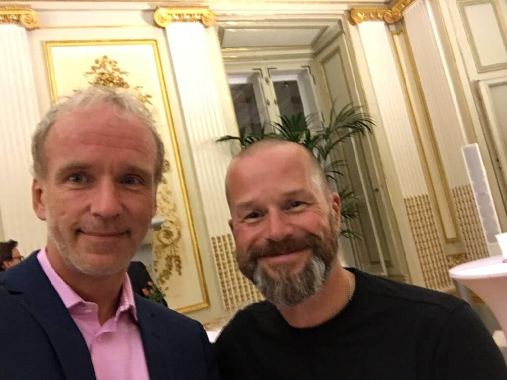 Mit Bernhard Lehner, Startup300, in der Capital Bank (30.09.2016)