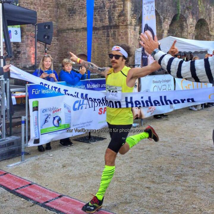 Florian Neuschwander, Zieleinlauf, Gelita Trail Marathon Heidelberg