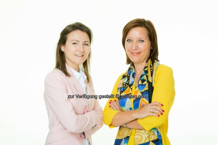 Theresa Häupl (Key Account Managerin) und Darja Kossmann (Marketing) verstärken das Österreich-Team bei Laundry & Home Care Fotocredit: Henkel/Tanzer