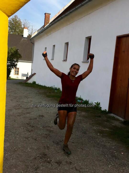 Martina Kaltenreiner beim 5. Raiffeisen Wipfelbeisser, yes!© Gerhardl Haba