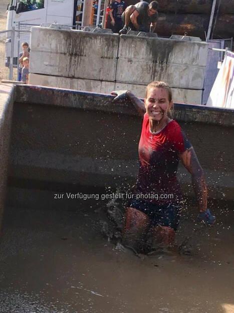 Martina Kaltenreiner beim 5. Raiffeisen Wipfelbeisser© Gerhardl Haba (03.10.2016)