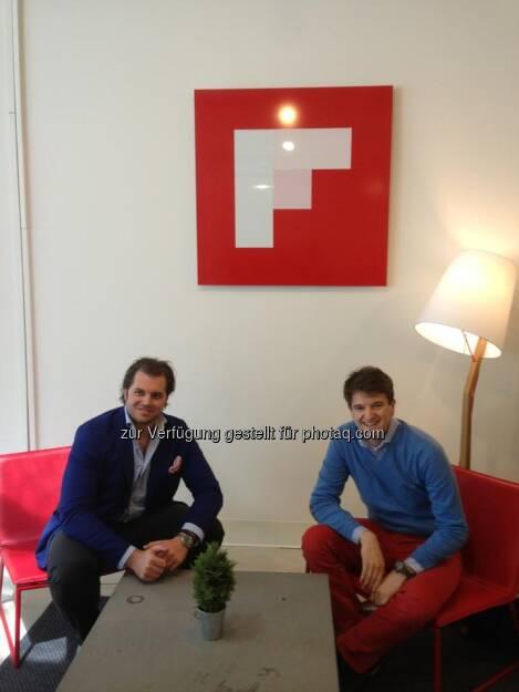 Tailored Apps (Lorenz Edtmayer, Maximilian Nimmervoll) besuchen Flipboard (27.04.2013)