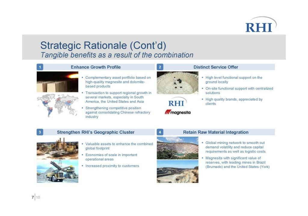 RHI - Strategic Rationale (Cont'd) (06.10.2016)