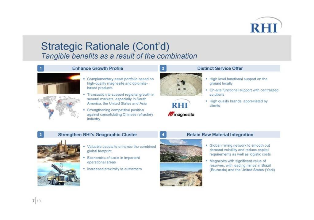 RHI - Strategic Rationale (Cont'd) (06.10.2016)