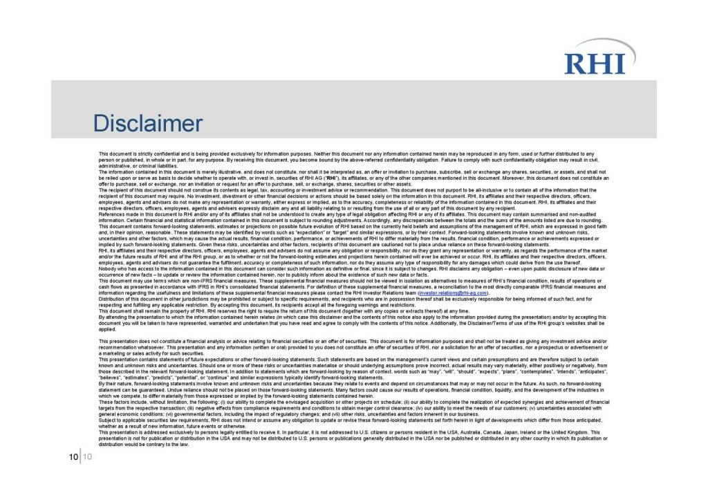 RHI - Disclaimer (06.10.2016)