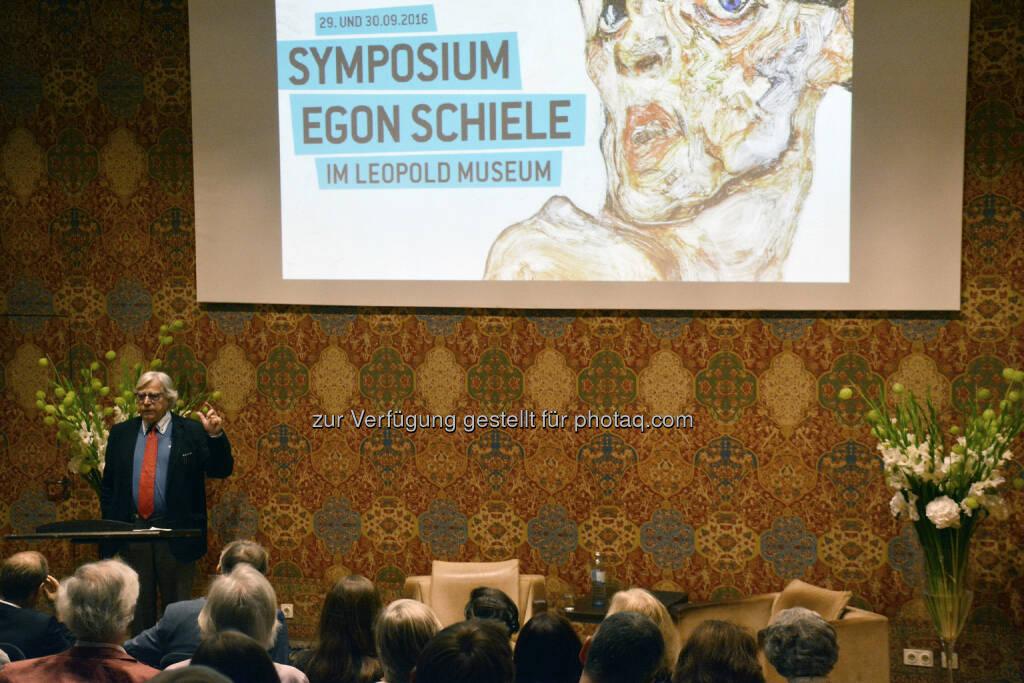 Bazon Brock (Kunsttheoretiker) : Eröffnungsvortrag des Egon Schiele Symposium des Leopold Museum : Fotocredit: Leopold Museum, Wien/Summerauer, © Aussendung (06.10.2016)