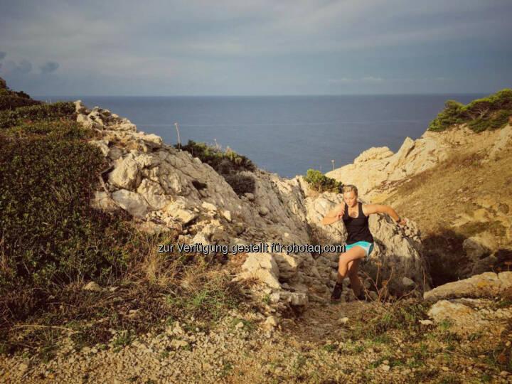 Christina Kiffe, Meer, laufen, bergauf, hinauf