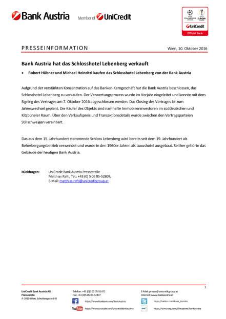 Bank Austria: Verkauf des Schlosshotels Lebenberg, Seite 1/1, komplettes Dokument unter http://boerse-social.com/static/uploads/file_1883_bank_austria_verkauf_des_schlosshotels_lebenberg.pdf (10.10.2016)