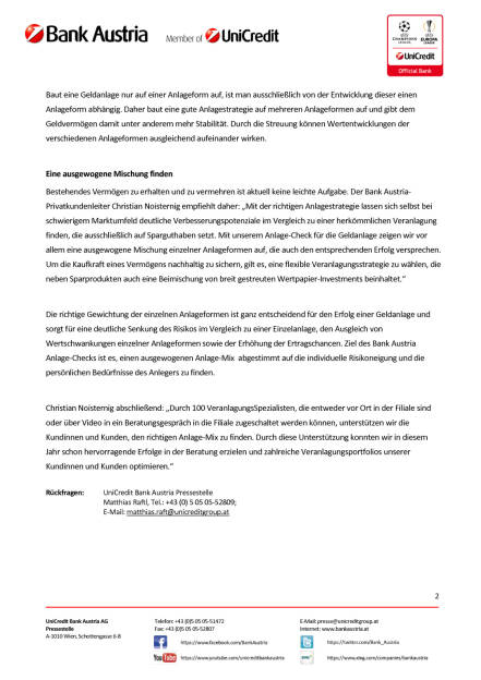 Bank Austria Anlage-Check, Seite 2/2, komplettes Dokument unter http://boerse-social.com/static/uploads/file_1884_bank_austria_anlage-check.pdf (10.10.2016)