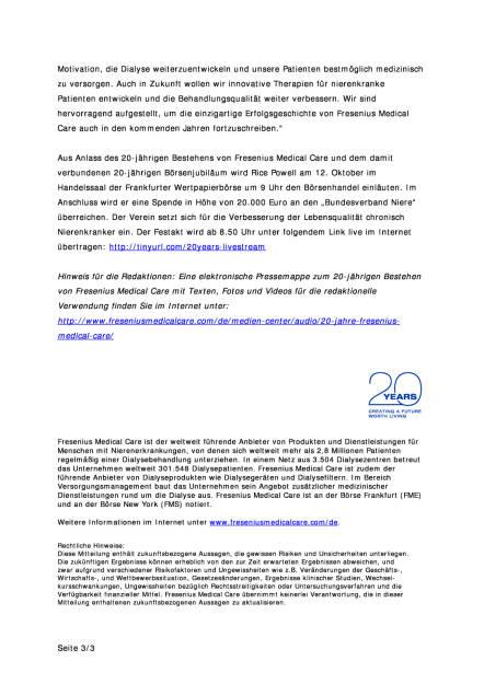 Fresenius Medical Care feiert 20-jähriges Bestehen, Seite 3/3, komplettes Dokument unter http://boerse-social.com/static/uploads/file_1888_fresenius_medical_care_feiert_20-jahriges_bestehen.pdf (10.10.2016)