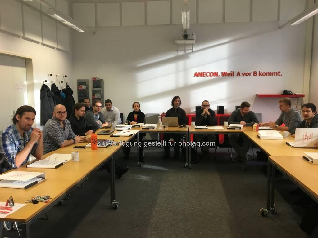 Teilnehmer des ersten Moduls : Anecon eröffnet den ersten berufsintegrierten Lehrgang für professionelle Test Automation : Fotocredit: Anecon, © Aussendung (10.10.2016)