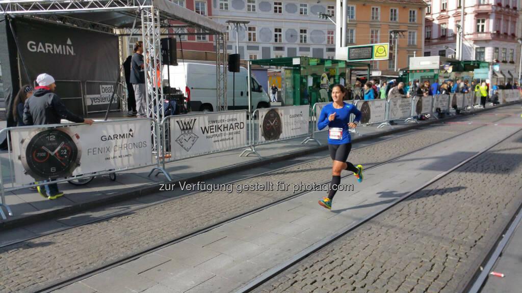 Monika Kalbacher beim Graz Halbmarathon (10.10.2016)