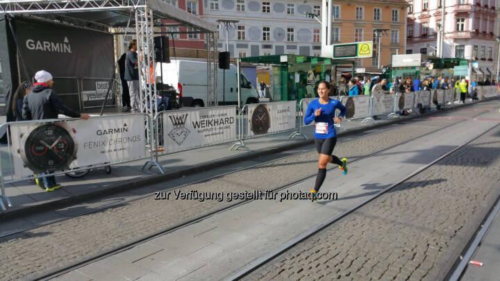 Monika Kalbacher beim Graz Halbmarathon