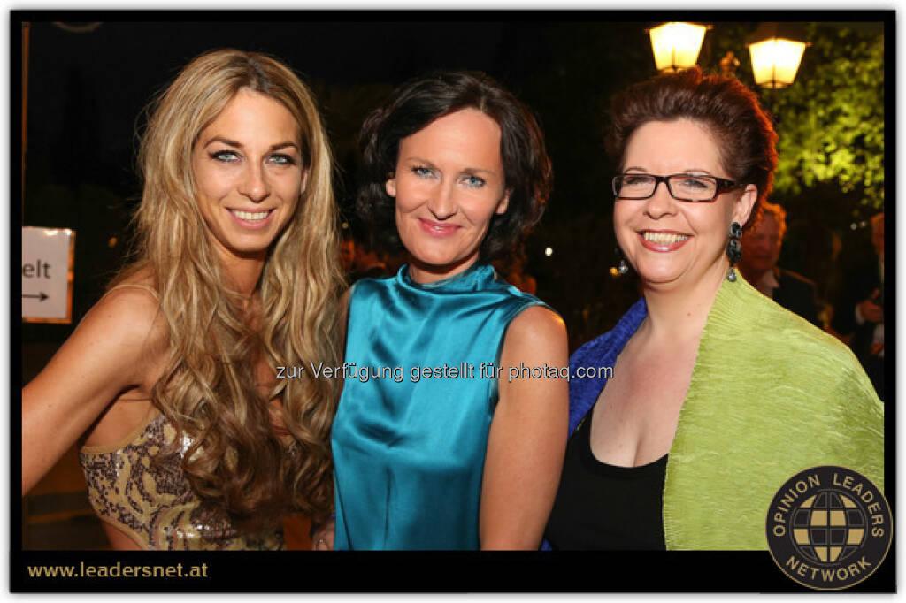 Yvonne Rueff, Eva Glawischnig, Christine Marek (28.04.2013)