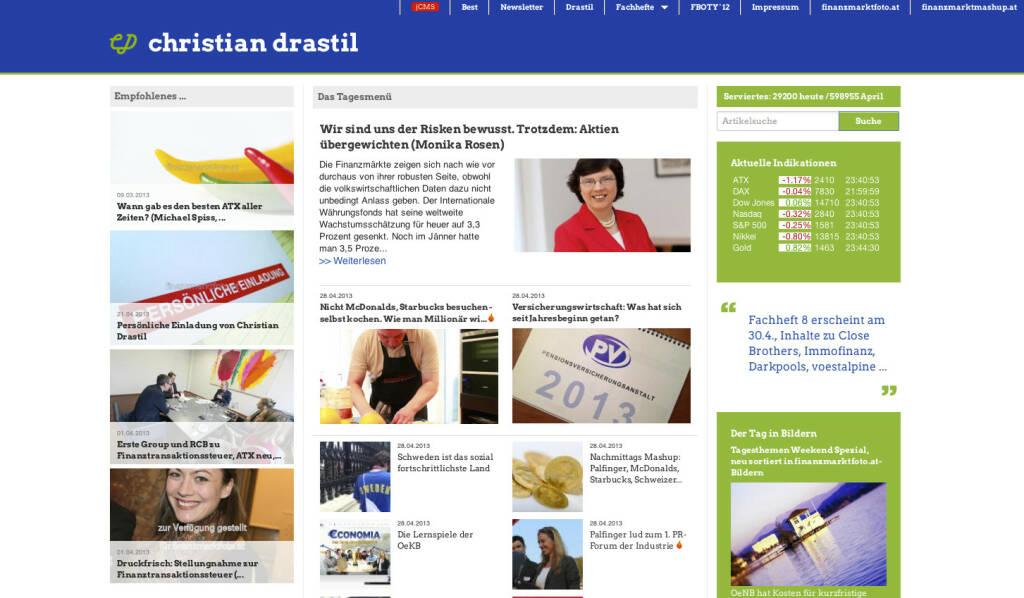 http://www.christian-drastil.com am 28.4.2013 Abends (28.04.2013)