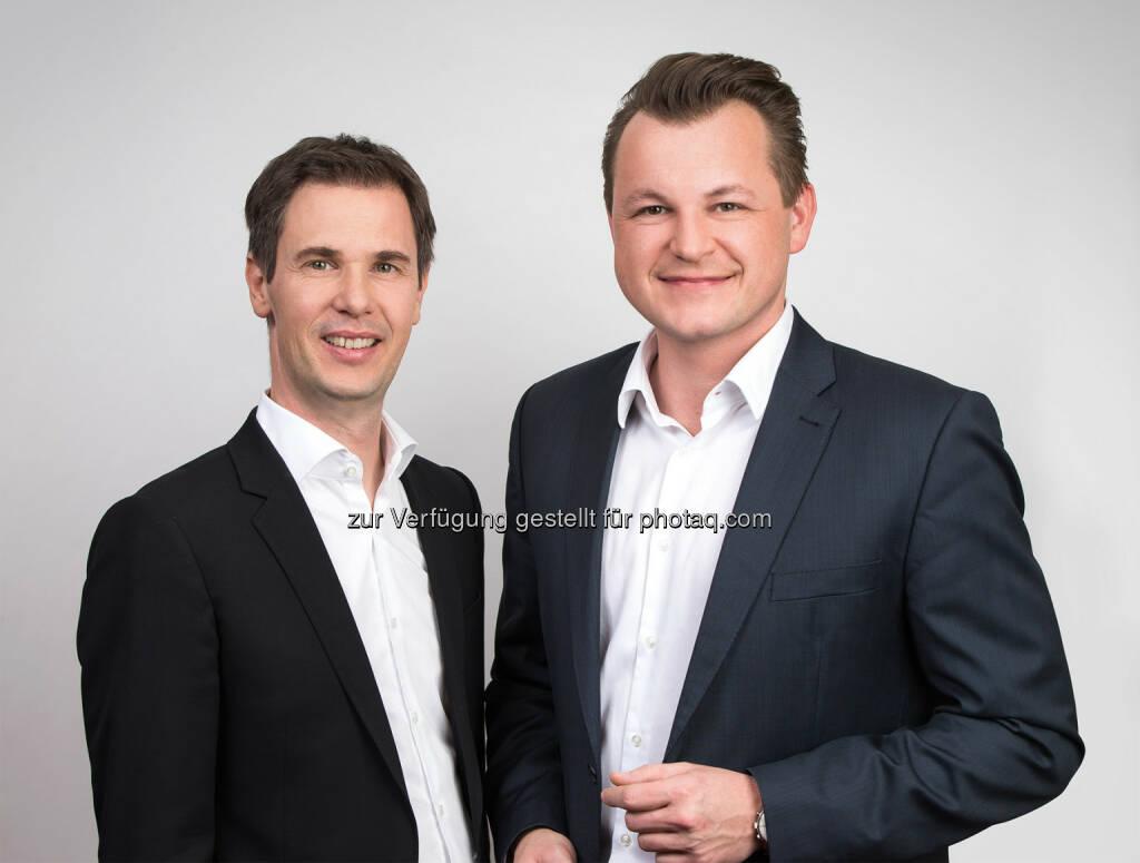 Stefan Lassnig und Georg Doppelhofer (RMA Vorstände) : Die Regionalmedien Austria (RMA) nehmen am österreichischen Zeitungsmarkt auch weiterhin klar die Spitzenposition im Reichweiten-Ranking ein : Fotocredit: RMA/Kolarik, © Aussender (13.10.2016)
