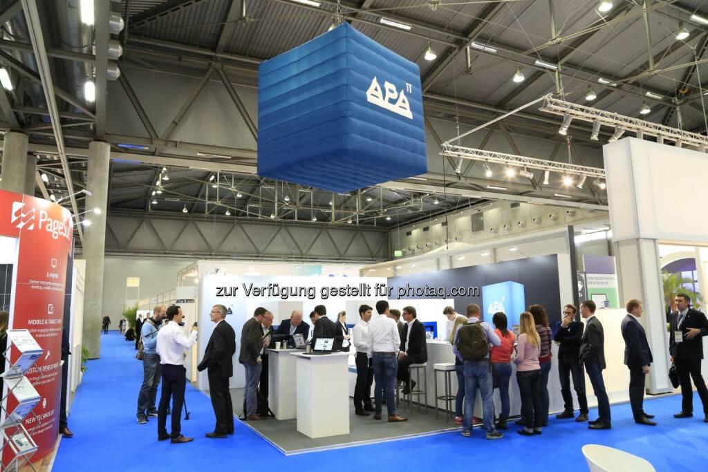 Messestand der APA-IT : Erfolgreicher Auftritt der APA-IT auf der World Publishing Expo 2016 : Fotocredit: Wan-Ifra/Juhasz (13.10.2016)