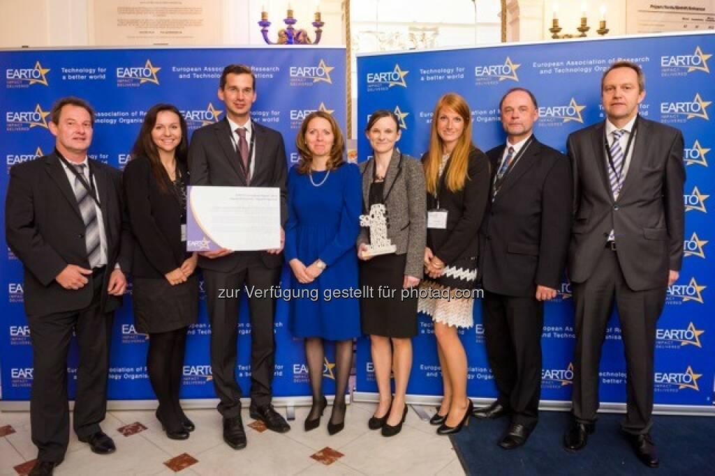 Semperit/PCCL Team :  Europäischer Innovationspreis EARTO 2016 geht an Semperit und PCCL : Fotocredit: EARTO, © Aussendung (13.10.2016)