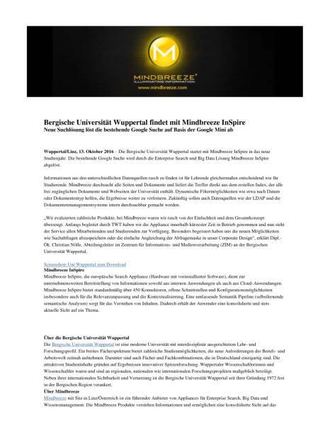 Mindbreeze InSpire für Bergische Universität Wuppertal , Seite 1/2, komplettes Dokument unter http://boerse-social.com/static/uploads/file_1899_mindbreeze_inspire_fur_bergische_universitat_wuppertal.pdf (14.10.2016)
