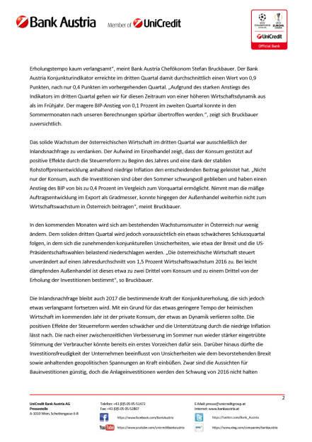 Bank Austria: Konjunkturindikator, Seite 2/6, komplettes Dokument unter http://boerse-social.com/static/uploads/file_1900_bank_austria_konjunkturindikator.pdf (14.10.2016)
