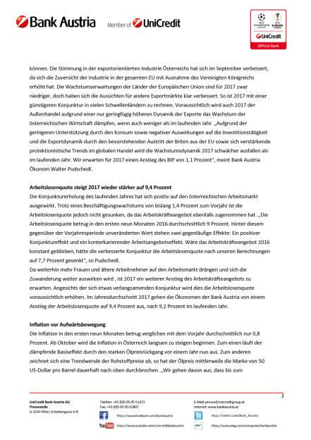 Bank Austria: Konjunkturindikator, Seite 3/6, komplettes Dokument unter http://boerse-social.com/static/uploads/file_1900_bank_austria_konjunkturindikator.pdf (14.10.2016)