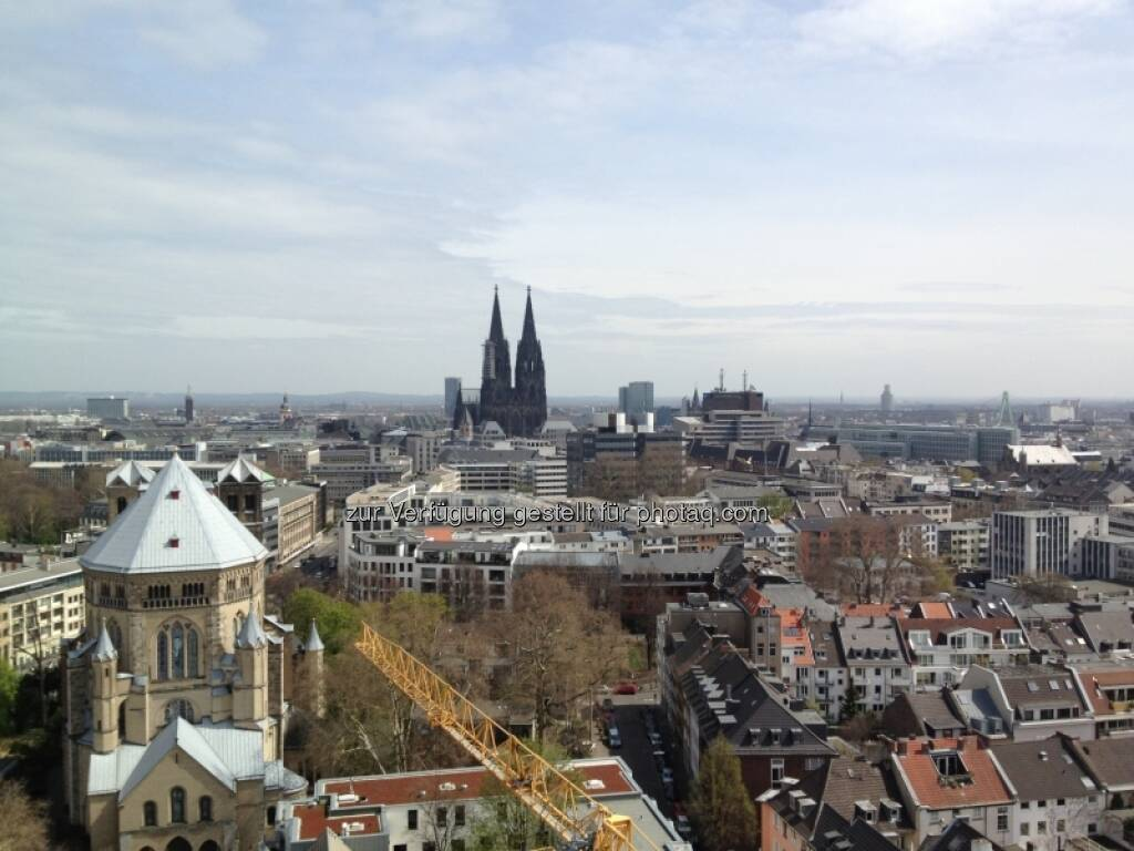 Blick auf Kölner Dom und St. Gereon (29.04.2013)