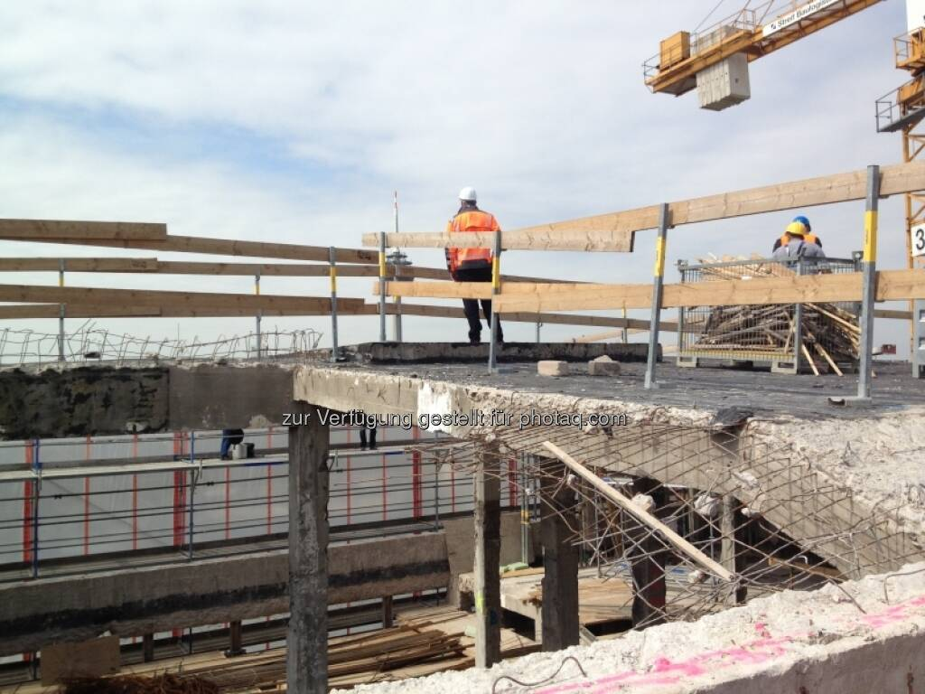 Baustelle Gerling Hochhaus, bauen, (C) Immofinanz (29.04.2013)