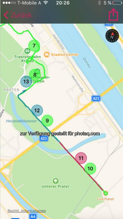 Km 7-12 als 5k Strecke für den Closing Bell Night Run