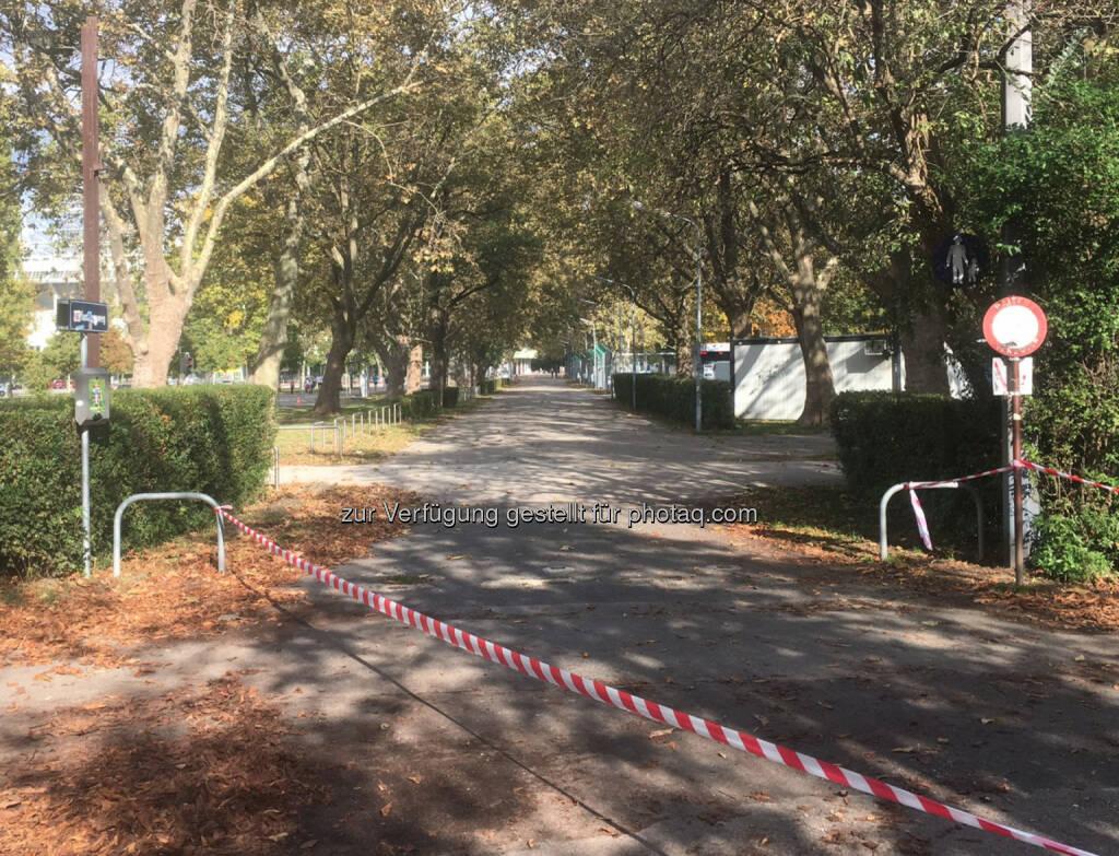 Eingang Marathonweg Prater (16.10.2016)