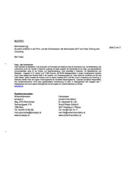 Festo: Seminarplan 2017 von Training and Consulting, Seite 2/2, komplettes Dokument unter http://boerse-social.com/static/uploads/file_1906_festo_seminarplan_2017_von_training_and_consulting.pdf (17.10.2016)