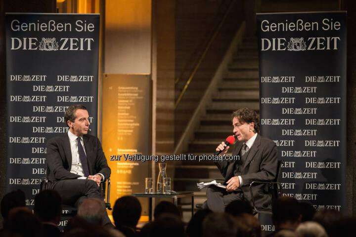 Christian Kern (Bundeskanzler), Giovanni di Lorenzo (ZEIT-Chefredakteur) : Christian Kern warnt vor den Folgen populistischer Wahlerfolge in Europa : Fotocredit: Felipe Kolm / DIE ZEIT