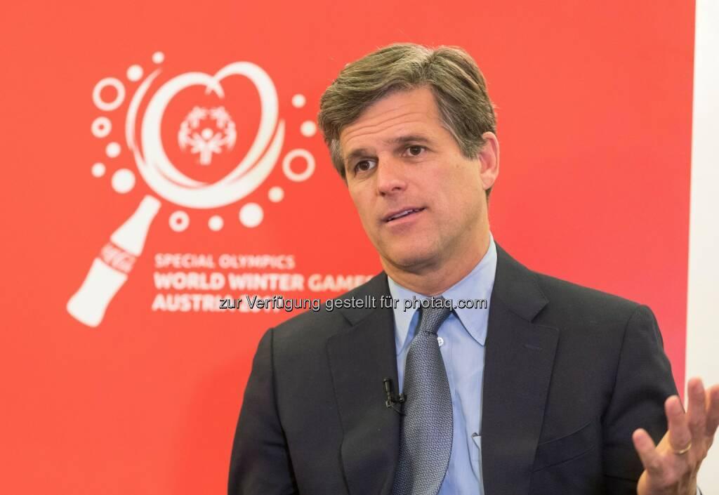 Timothy Shriver (Weltpräsident der Special Olympics) : Fotocredit: Coca-Cola/Martin Steiger, © Coca-Cola/andibruckner.com (18.10.2016)