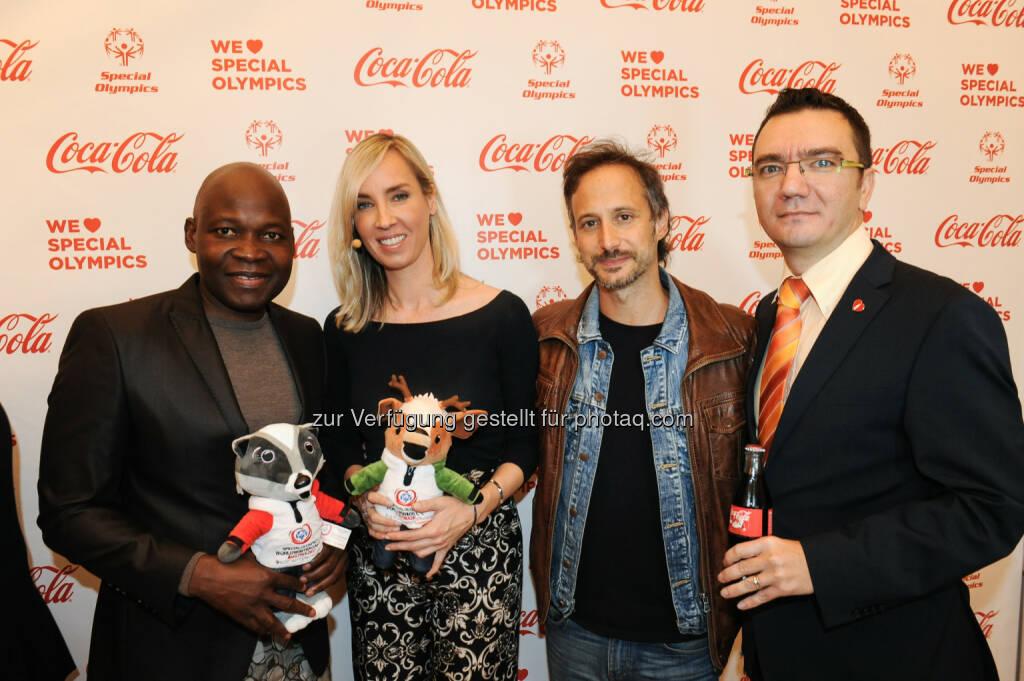 George Alaba, Nadja Bernhard, Michael Ostrowski, Adrian Cernautan, © Coca-Cola/andibruckner.com (18.10.2016)