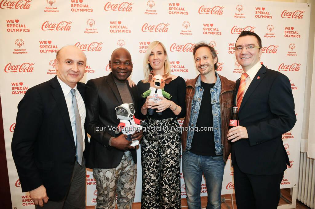 Ali Rahimi, George Alaba, Nadja Bernhard, Michael Ostrowski, Adrian Cernautan, © Coca-Cola/andibruckner.com (18.10.2016)