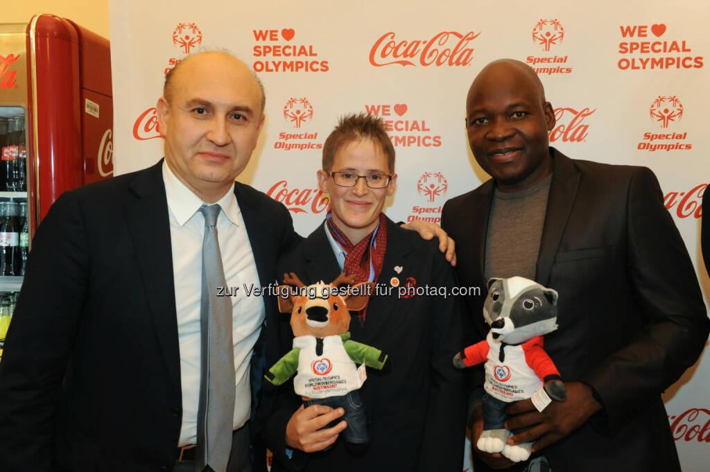 Ali Rahimi, Johanna Pramstaller, George Alaba, © Coca-Cola/andibruckner.com (18.10.2016)
