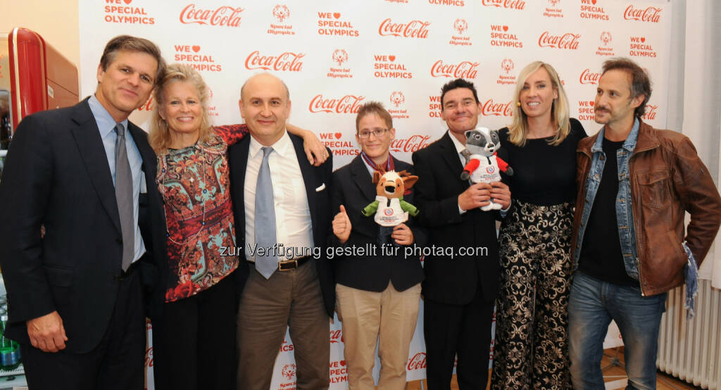 Timothy Shriver, Potter, Ali Rahimi, Johanna Pramstaller, Jochen Hugmann, Nadja Bernhard, Michael Ostrowski, © Coca-Cola/andibruckner.com (18.10.2016)