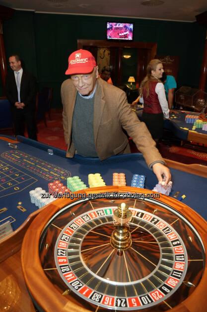 Niki Lauda : Casino FlaminGO in Mazedonien feierte Erweiterung mit Niki Lauda : Fotocredit: Novomatic, © Aussendung (18.10.2016)