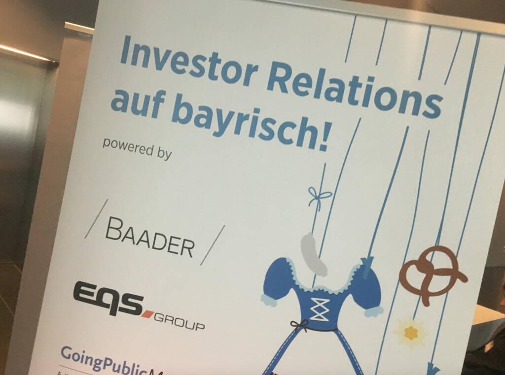 Investor Relations auf bayrisch Baader, © diverse photaq (19.10.2016)