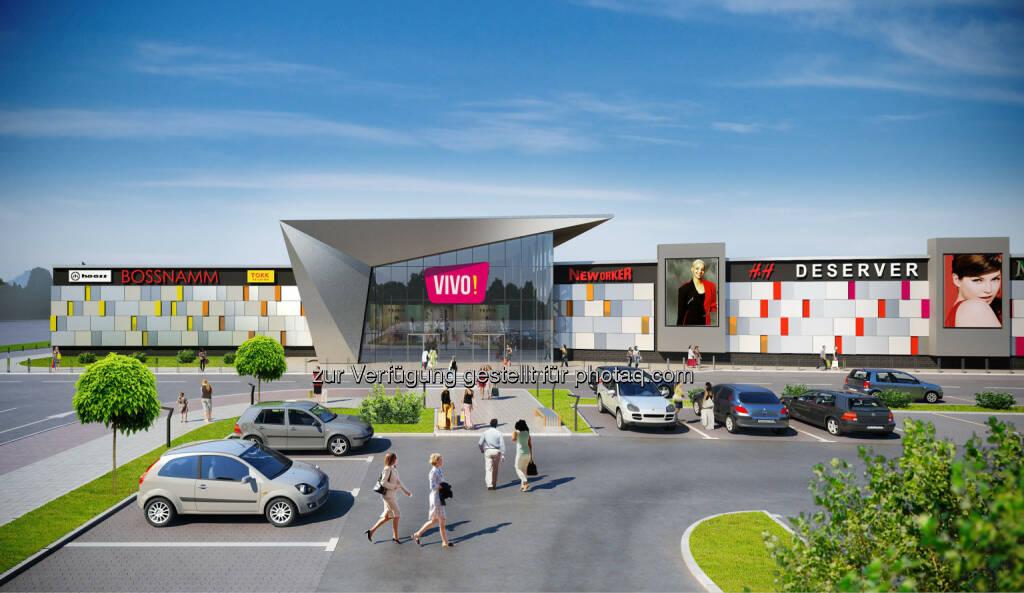 Visualisierung VIVO!, Krosno, Polen : Immofinanz errichtet in der polnischen Stadt Krosno ein weiteres Shopping Center ihrer Marke VIVO! : Fotocredit ©Immofinanz/Vivo!, © Aussendung (20.10.2016)