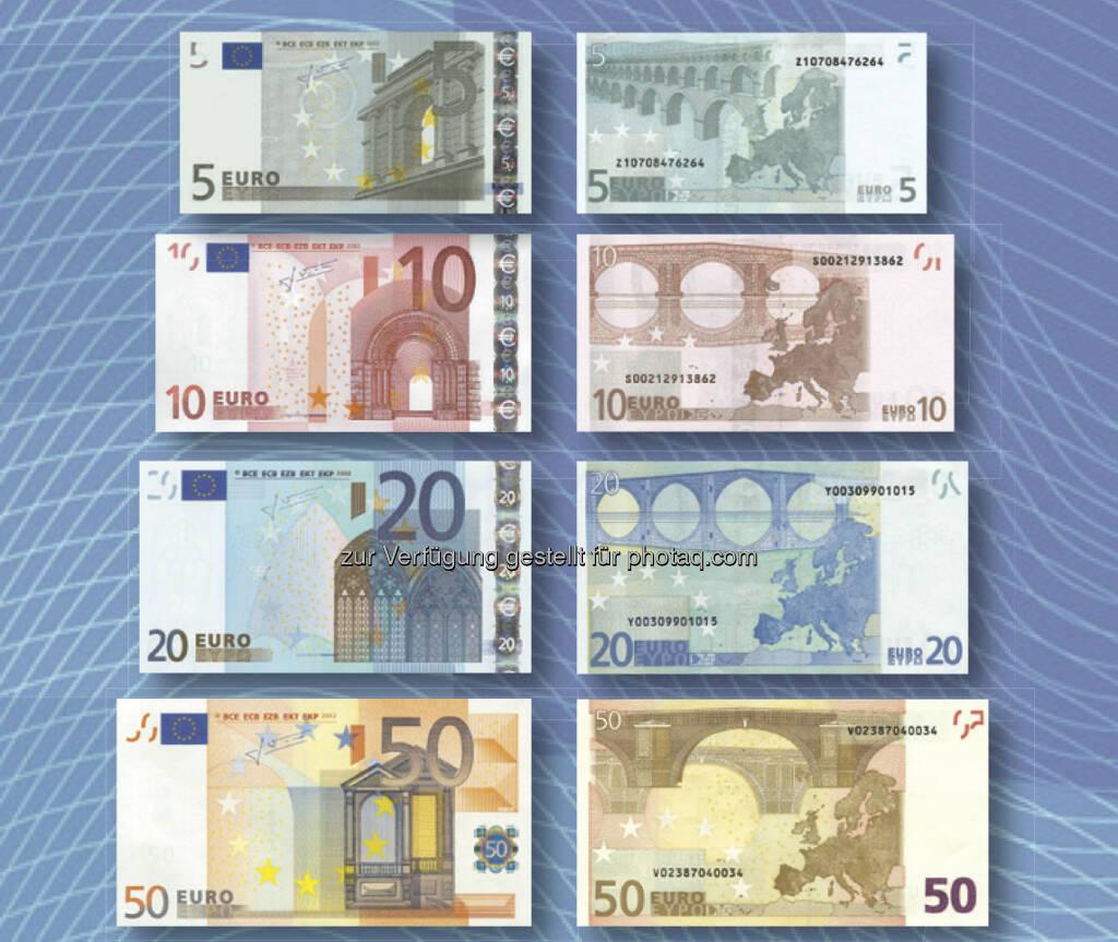 Euro-Banknoten der ersten Serie, © OeNB (30.04.2013)