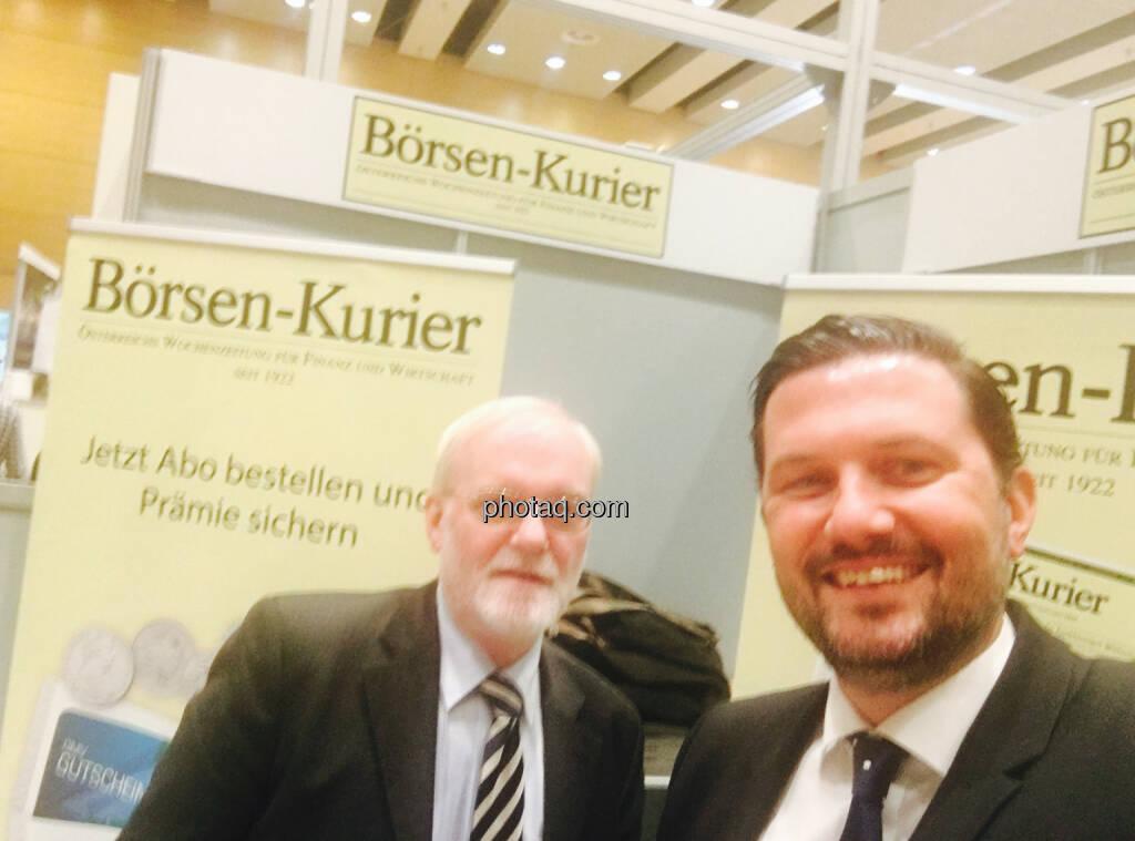 Selfie Marius Perger, Klaus Schweinegger Börsen-Kurier, © jeder selbst (20.10.2016)