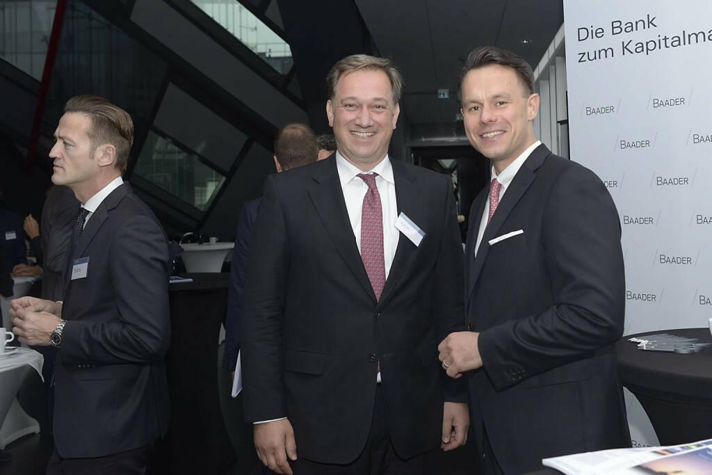 Nico Baader (Baader Bank AG), Christoph Boschan (Wiener Börse), © C.I.R.A./APA-Fotoservice/Bargad Fotograf/in: Nadine Bargad (23.10.2016)