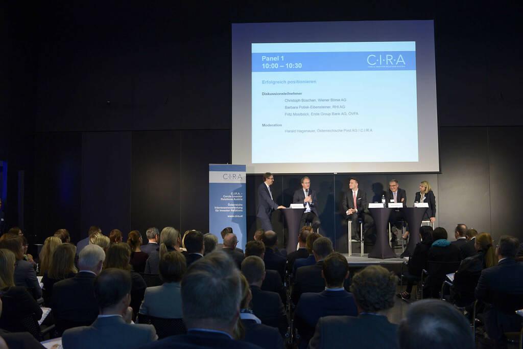 Harald Hagenauer (Österr. Post), Markus Hengstschläger, Christoph Boschan (Wiener Börse AG), Fritz Mostböck  (Erste Group Bank AG, ÖVFA), Barbara Potisk-Eibensteiner (RHI AG)