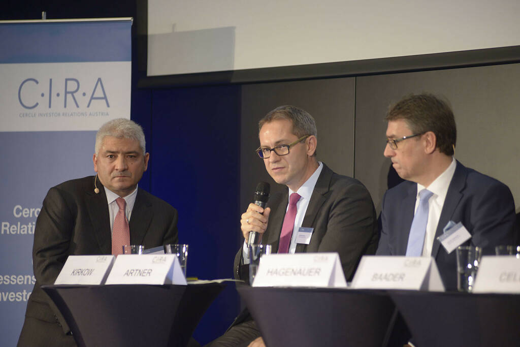 Peter Kirkow (KPMG Makinson Cowell), Günther Artner (Erste Group Bank AG), Harald Hagenauer (Österr. Post), © C.I.R.A./APA-Fotoservice/Bargad Fotograf/in: Nadine Bargad (23.10.2016)
